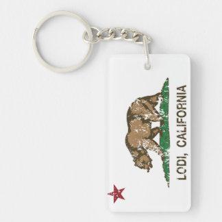 California State Flag Lodi Key Ring