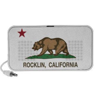 California State Flag Rocklin iPhone Speakers