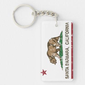 California State Flag Santa Barbara Key Ring