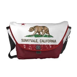 California State Flag Sunnyvale Messenger Bags