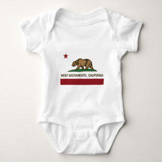 California state flag West sacramento Baby Bodysuit