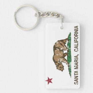 California State Santa Maria Double-Sided Rectangular Acrylic Key Ring