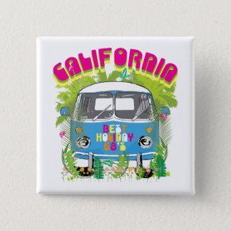 California Surfing Van 15 Cm Square Badge