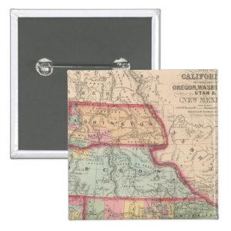 California, Territories of Oregon, Washington 15 Cm Square Badge