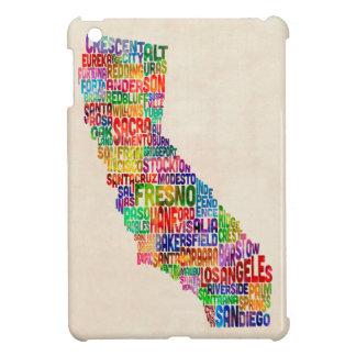 California Typography Text Map iPad Mini Covers
