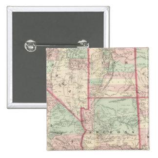 California, Utah, Nevada, Colorado 15 Cm Square Badge