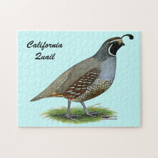 California Valley Quail Jigsaw Puzzle