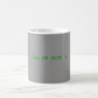CALL  OF  DUTE   4 MUG