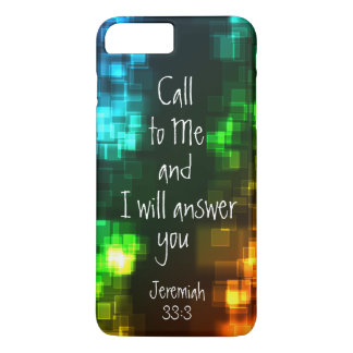 Call to Me Bible Verse Jeremiah 33:3 iPhone 8 Plus/7 Plus Case