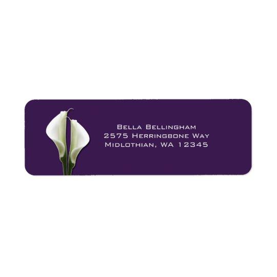 Calla Lilies Address Labels