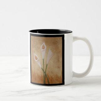 Calla Lillies Two-Tone Coffee Mug