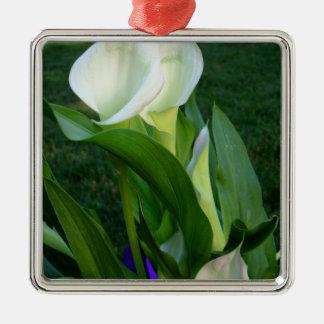 Calla Lillies (white) Christmas Ornament