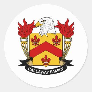 Callaway Family Crest Round Sticker
