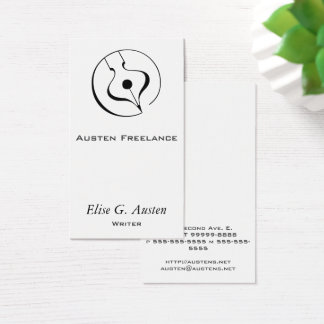 Calligraphic Fountain Pen Business Card