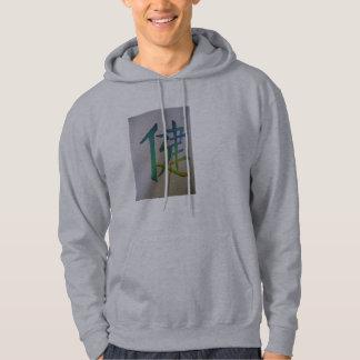 """Calligraphy depicting """"Health"""" Hooded Sweatshirt"""