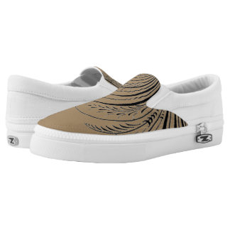 Calligraphy Flourish Printed Shoes