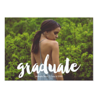 "Calligraphy ""Graduate"" Graduation Announcement"