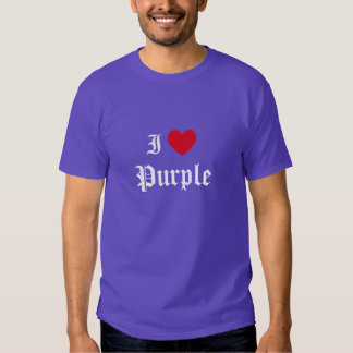 Calligraphy I Love Purple Tee Shirts