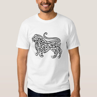 calligraphy lion tshirt