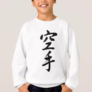 Calligraphy of the Japanese Word Karate Sweatshirt