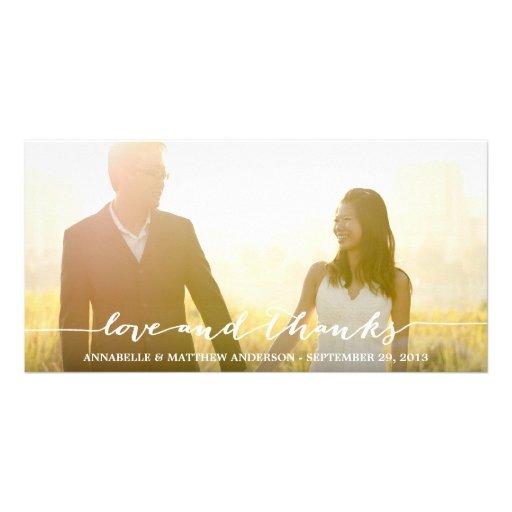 CALLIGRAPHY OVERLAY | WEDDING THANK YOU PHOTO CARD