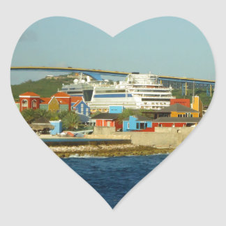 Calling at Curacao Heart Sticker