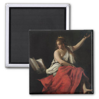 Calliope, Muse of Epic Poetry Square Magnet