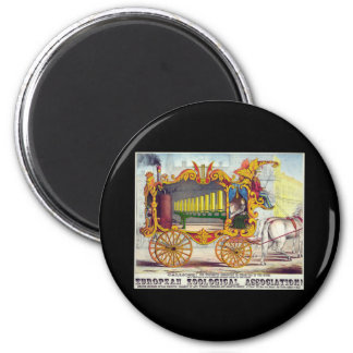 Calliope steam car of the muses 6 cm round magnet