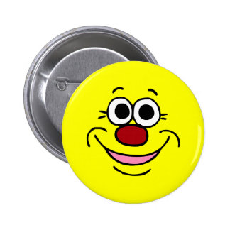 Calm Smiley Face Grumpey 6 Cm Round Badge