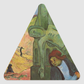 Calvaire breton by Paul Gauguin Triangle Sticker