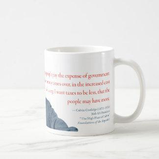 "Calvin Coolidge Mug #3 ""Cost of Living"""