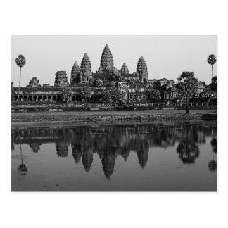 Cambodia   Angkor Wat Travel Photo B&W Postcard