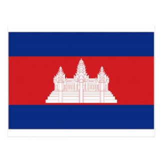 Cambodia National Flag Postcard