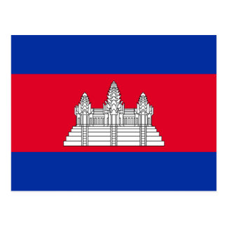 Cambodia National World Flag Postcard