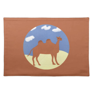 Camel Whimsical on Desert Dunes Placemat