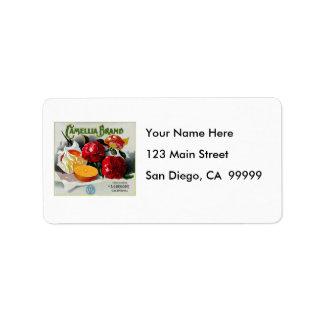 Camellia Brand Oranges Address Label