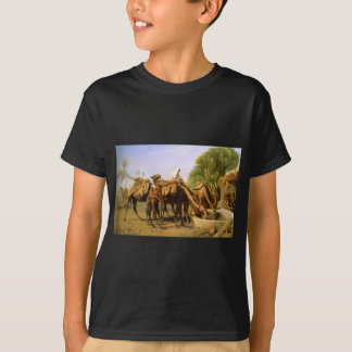 Camels at the Fountain by Jean-Leon Gerome T-Shirt