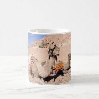 Camels in the desert at St. Catherine's Coffee Mug