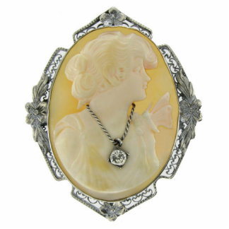 Cameo 1 Pin Photo Sculpture Badge