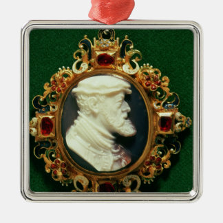 Cameo bearing the portrait of Charles I of Spain Christmas Ornament
