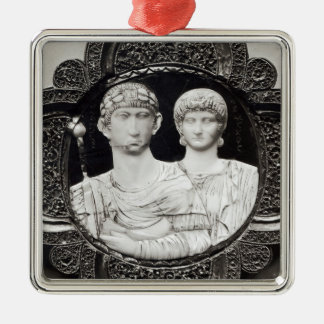 Cameo depicting Emperor Honorius  and his wife Christmas Ornament