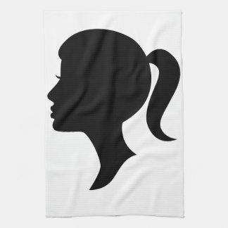 Cameo Silhouette Girl Towel