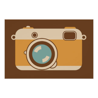 Camera Graphic for Photographer or Designer Poster