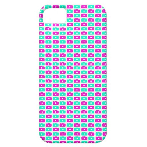 Camera Love iPhone 5 case (Pink and Cyan)