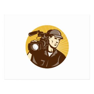 Cameraman Film Crew Pro Video Movie Camera Post Card