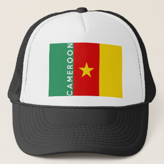 cameroon country flag symbol name text trucker hat