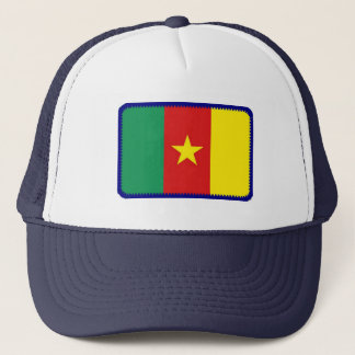Cameroon flag embroidered effect hat