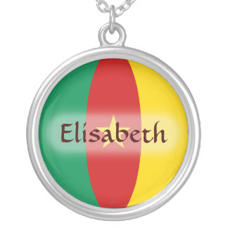 Cameroon Flag + Name Necklace