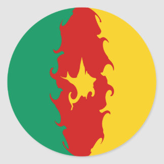 Cameroon Gnarly Flag Sticker