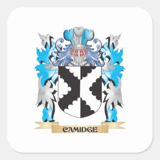 Camidge Coat of Arms - Family Crest Square Sticker